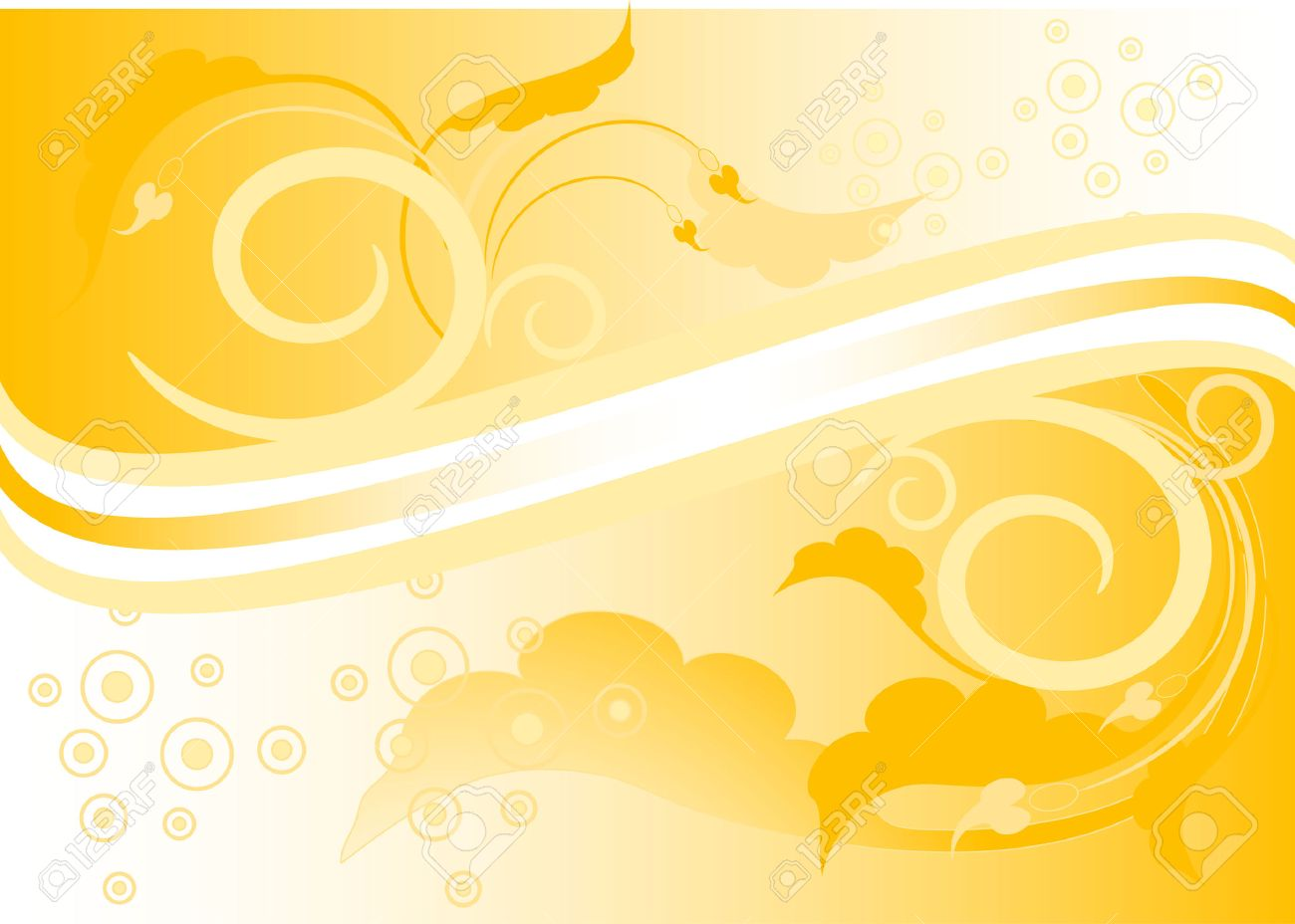 Yellow Background With Leaves And Colour Arrows. Banner ...