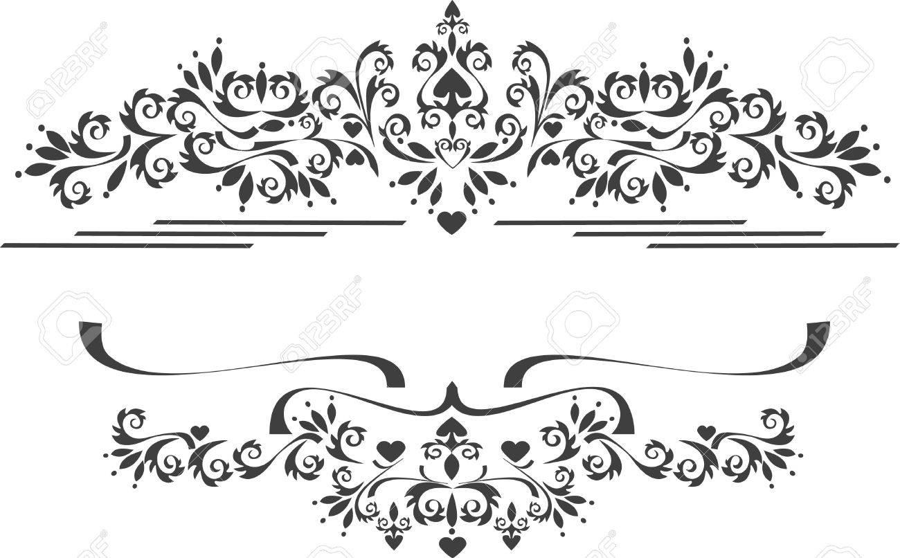Decorative ornament border .  Graphic arts Stock Vector - 7343203