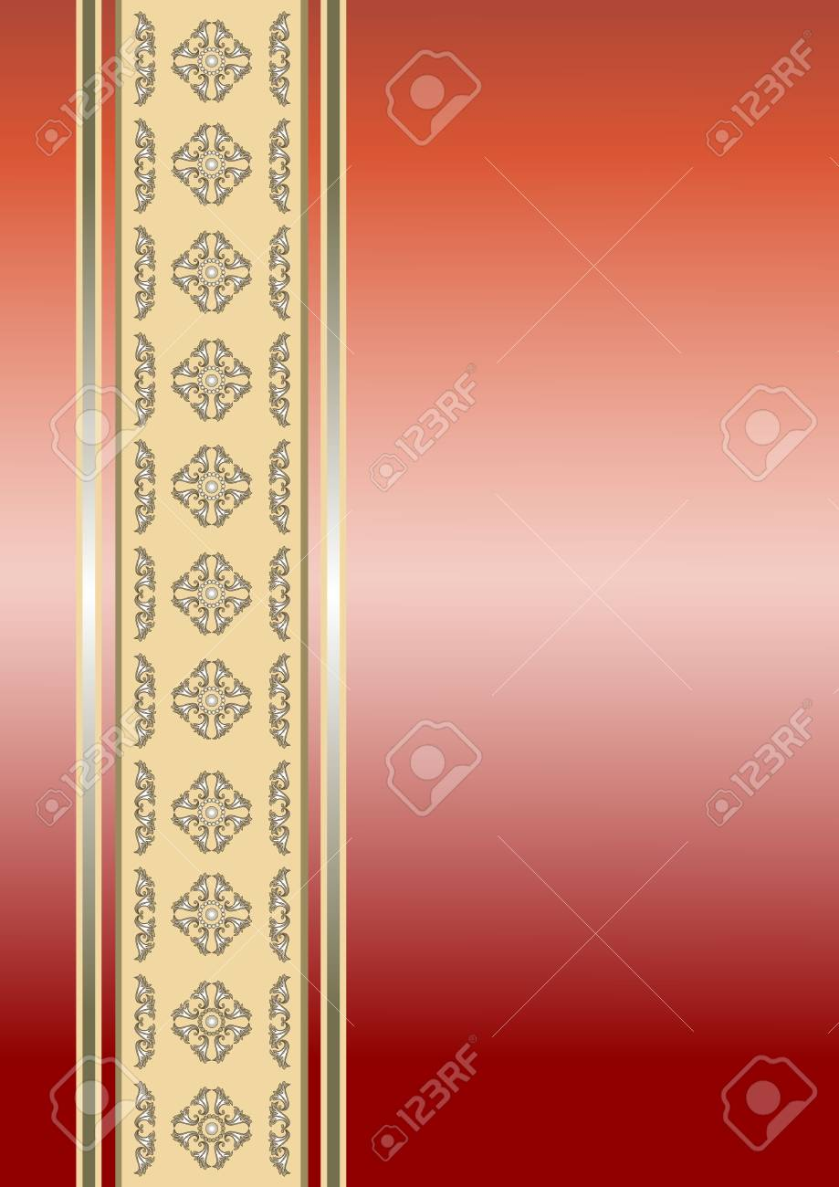 Border with vintage ornament. Background. Stock Vector - 7713222