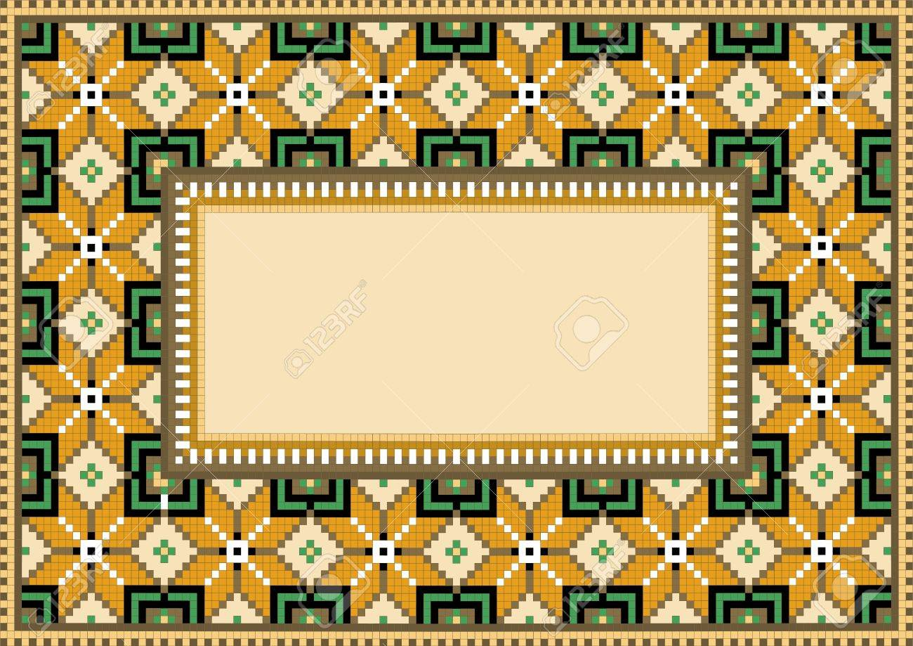 Composition with geometric pattern.Rug. Stock Vector - 10335808