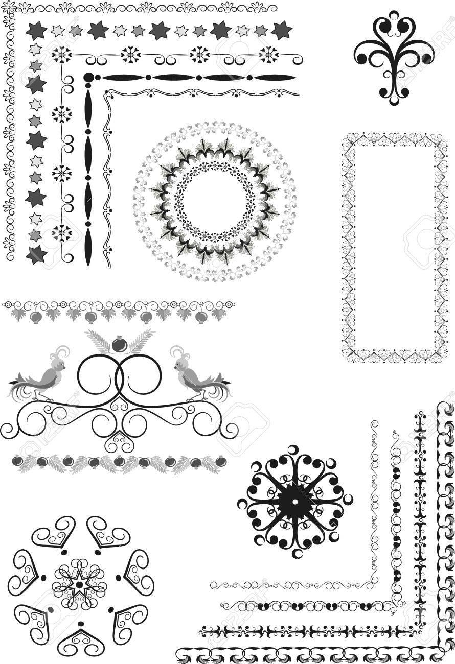 Decorative ornamental frame, border on a white background. Graphic arts. Stock Vector - 11661187