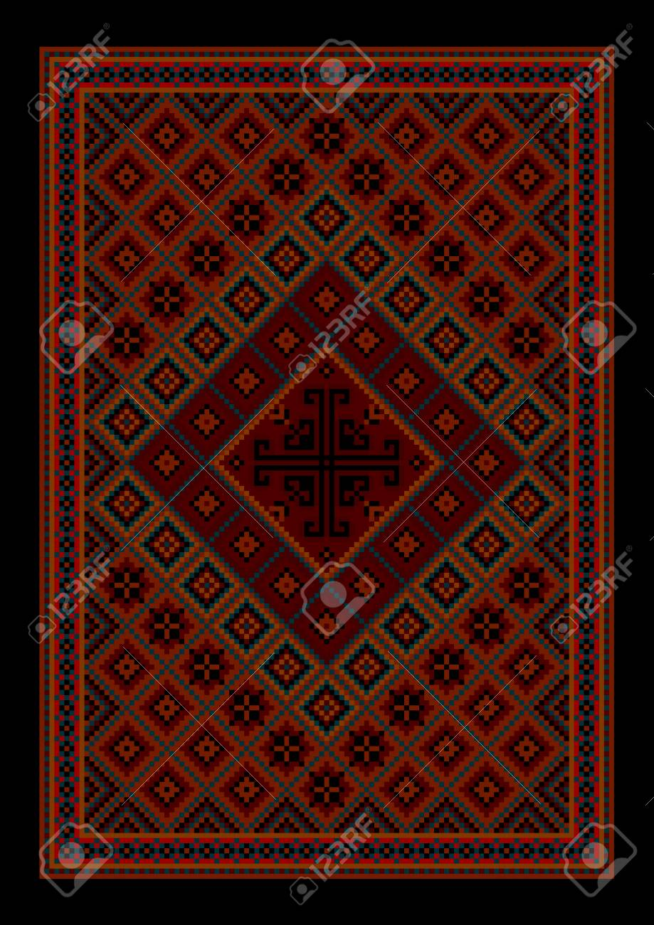Tapis Oriental Vintage Luxueux Avec Ornement Colore Dans Les Tons