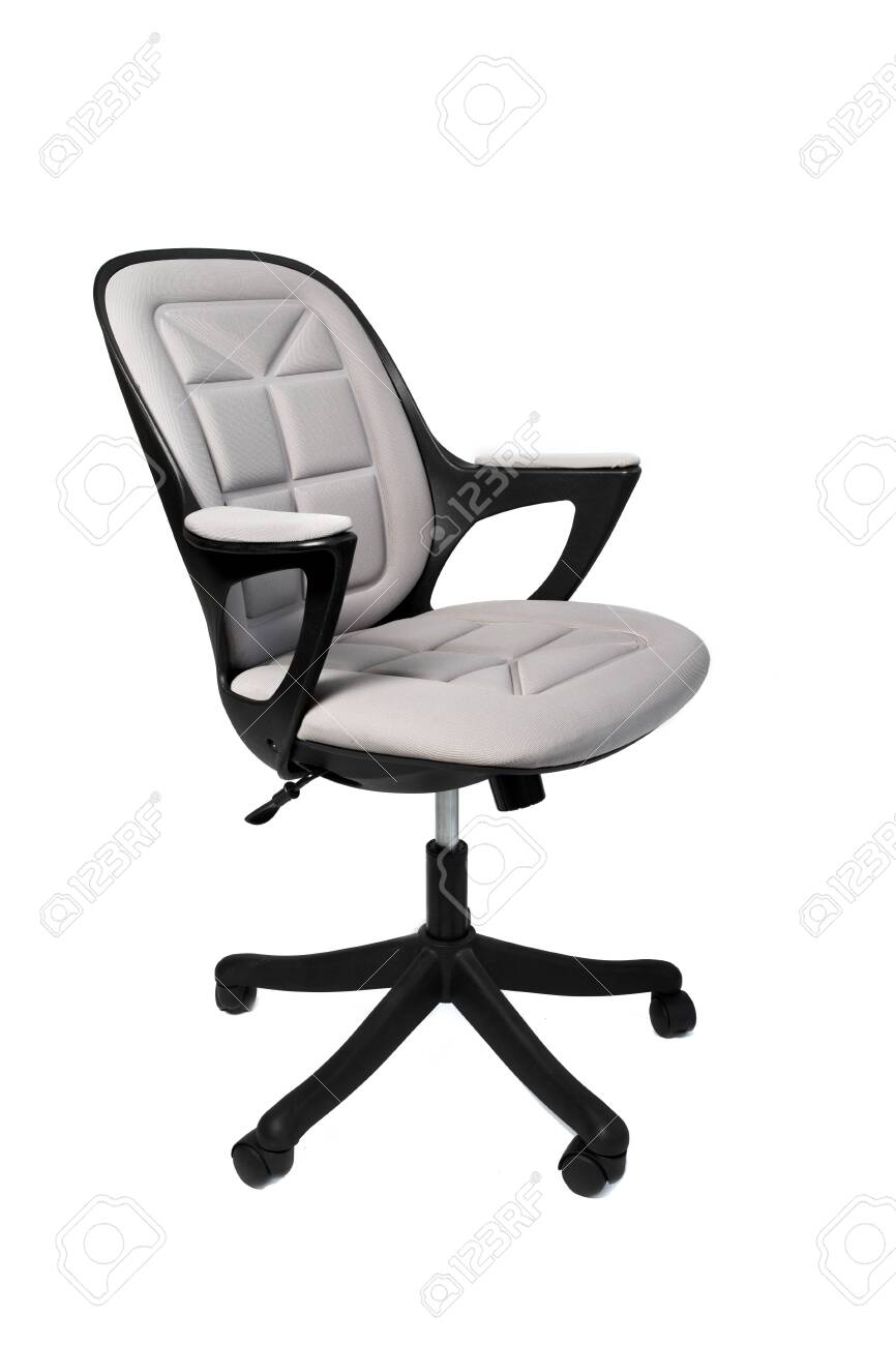 Modern White Office Chair Isolated On White Background Stock Photo Picture And Royalty Free Image Image 140199618
