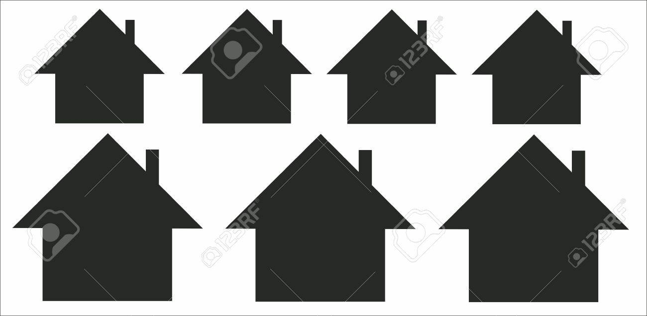 contours of houses on a white background Stock Vector - 13759969