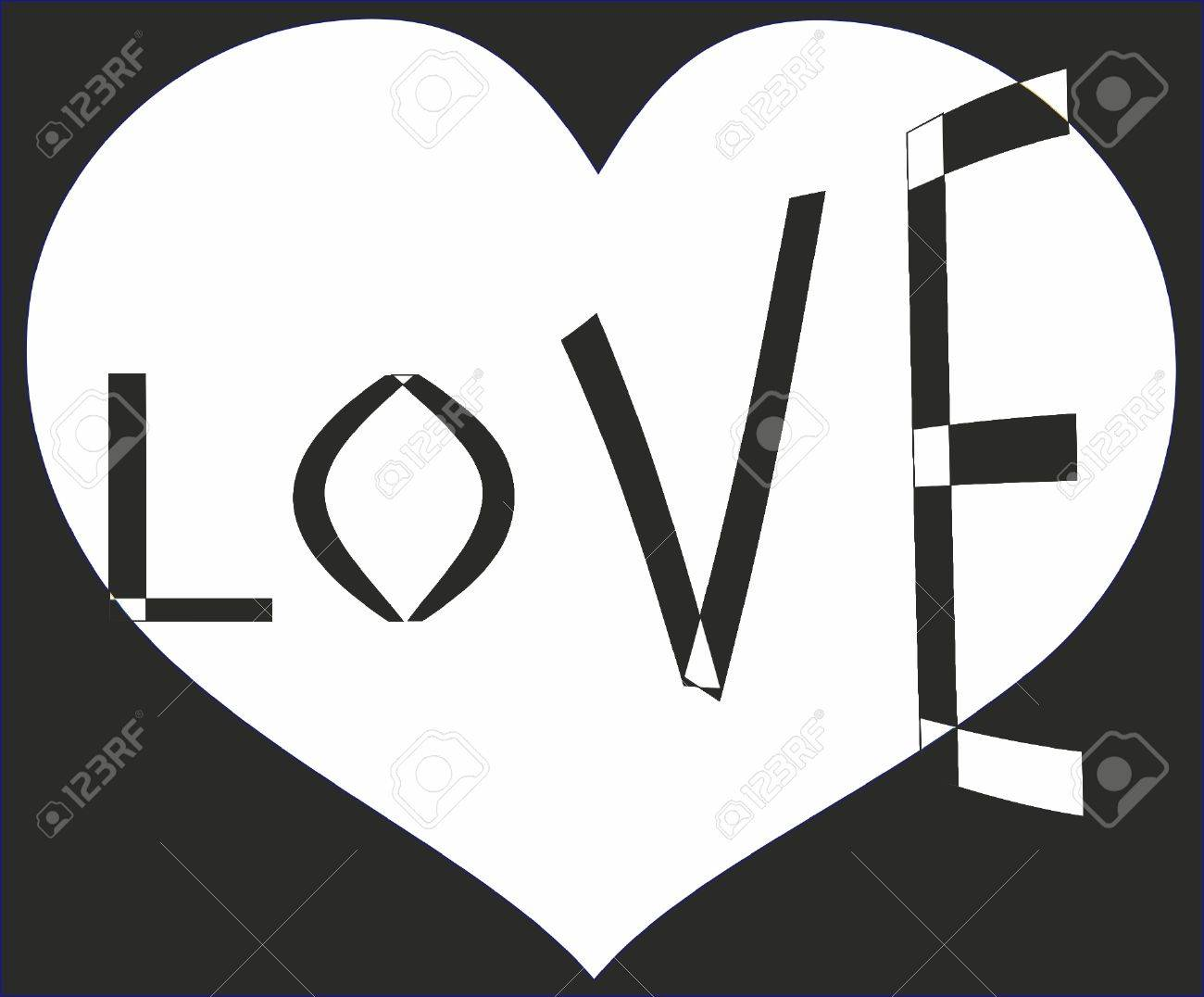 Love, black-and-white Stock Vector - 13792877