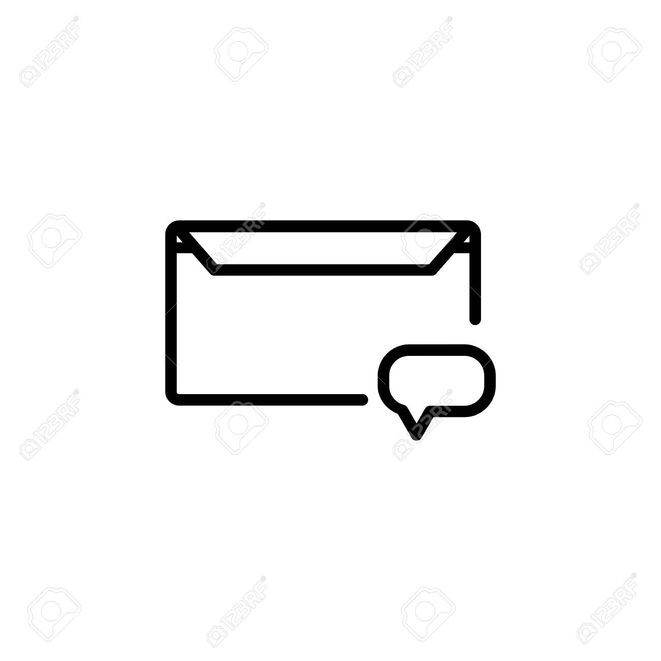 message icon design line style comment icon logo and presentation royalty free cliparts vectors and stock illustration image 137547488 123rf com