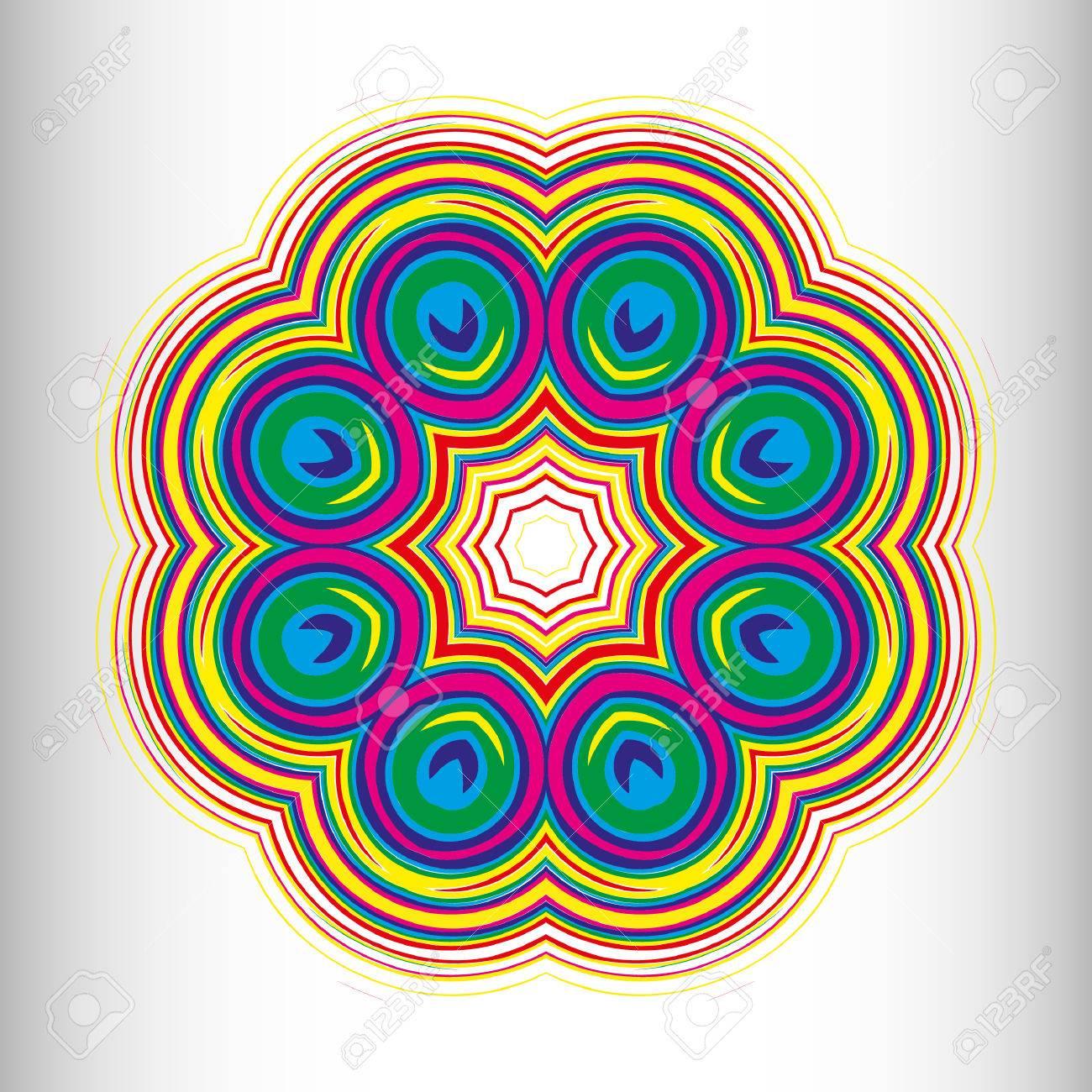 Ein Muster In Schwarz Weiss Mandala Zum Ausdrucken