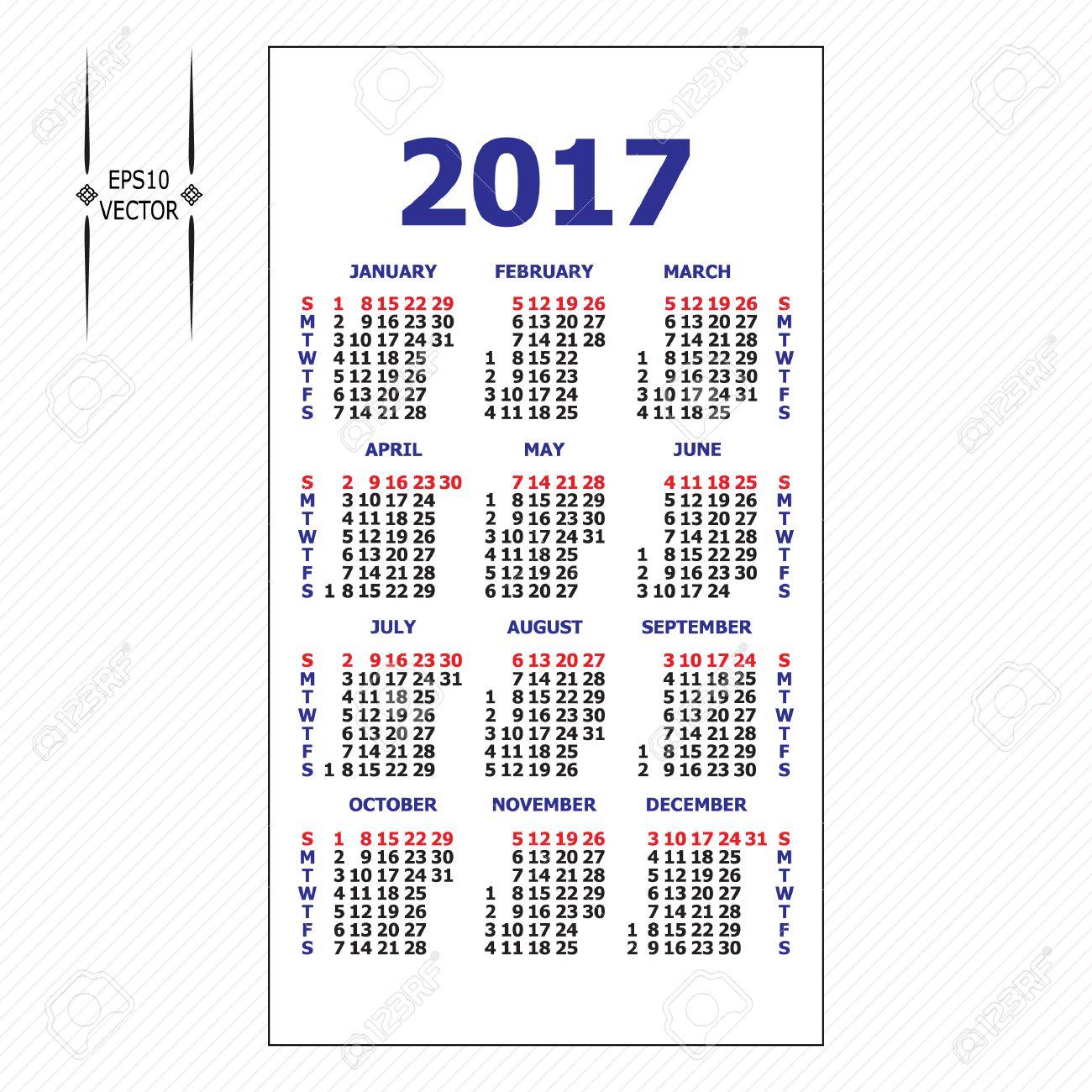 Template calendar grid