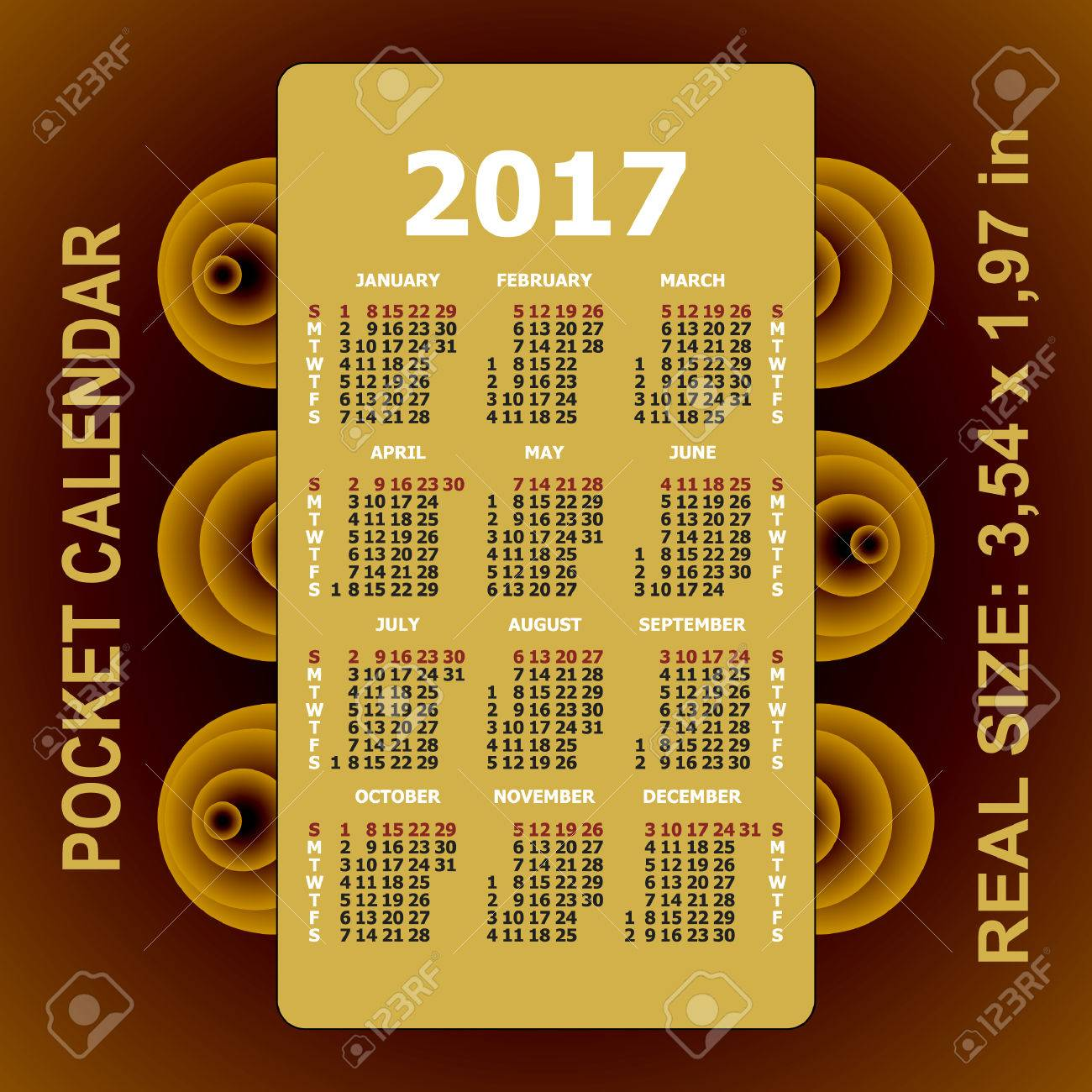 pocket calendars template