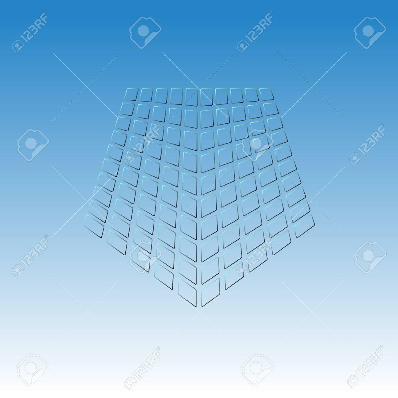 vector pentagon icon abstract web icon pentagon template