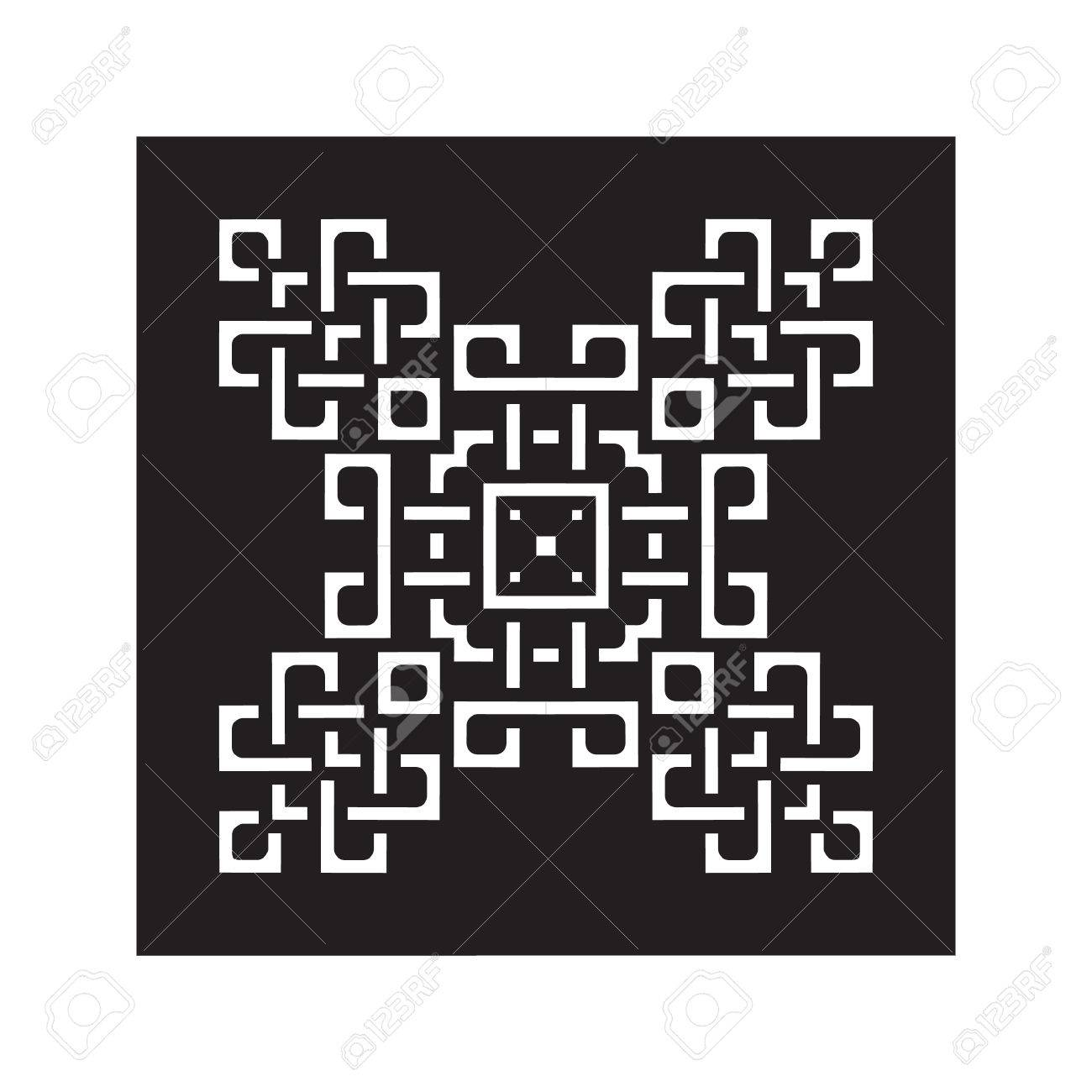 Laser Cutting Template Decorative Elements Lace Patterns Square Lattice Ornaments For Wood Carving