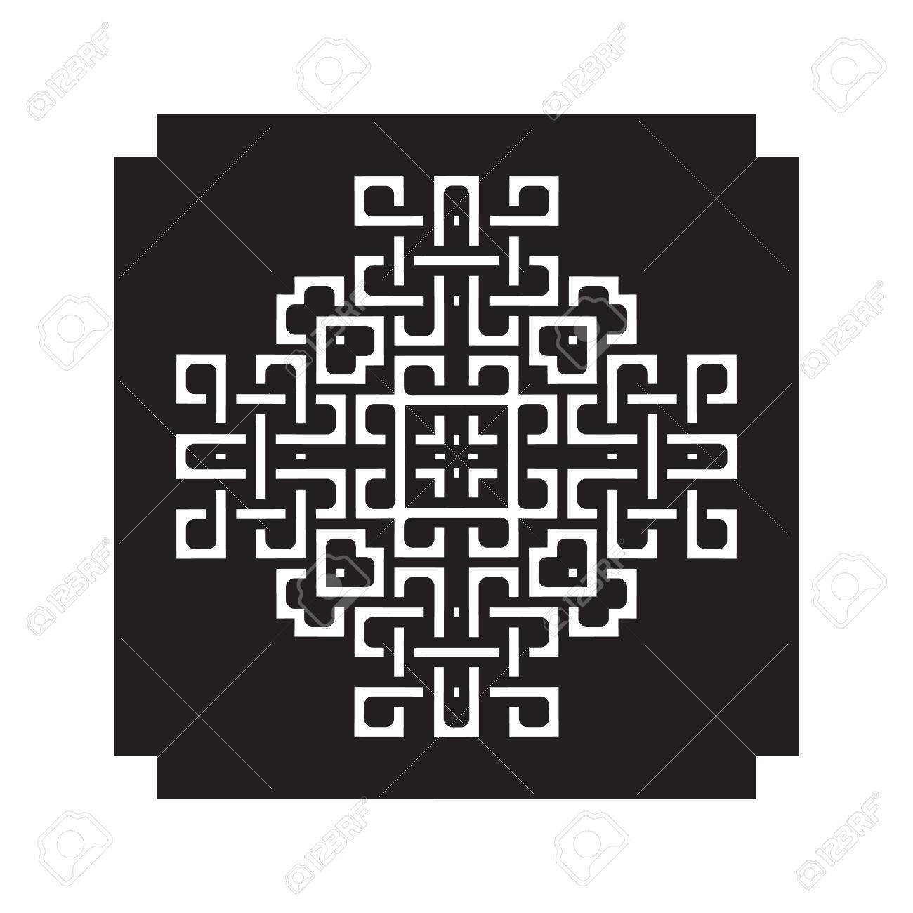 Laser Cutting Template Decorative Elements. Lace Patterns, Square ...