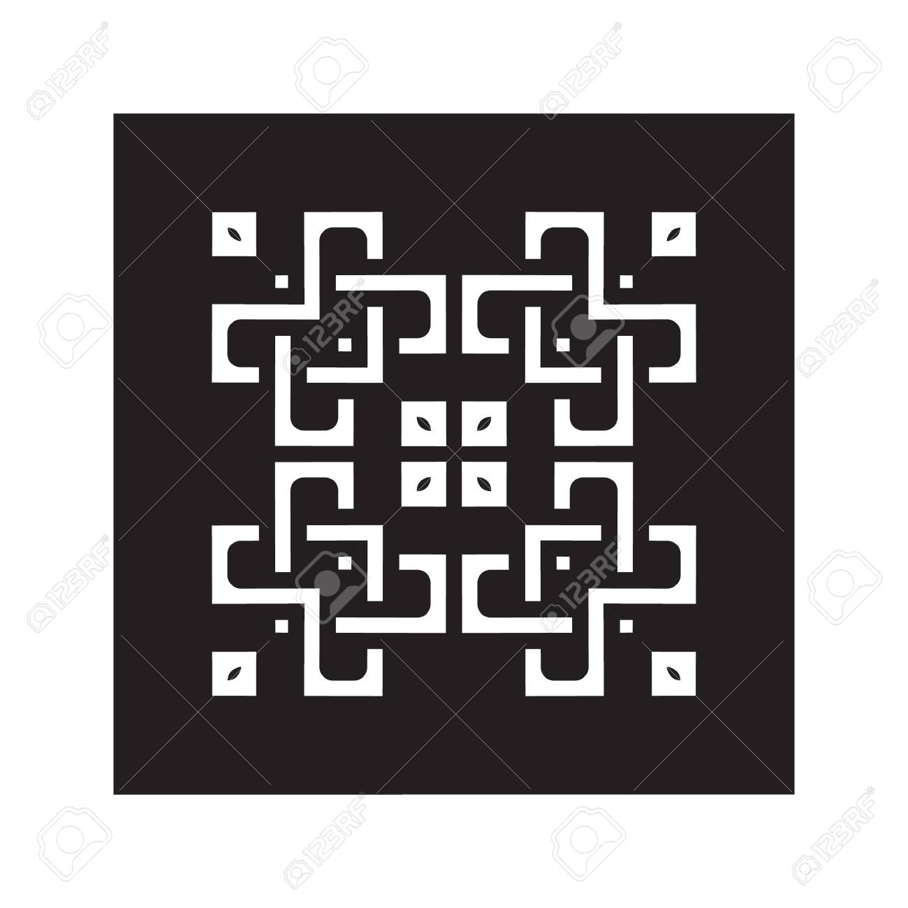 Lace Patterns Square Lattice Ornaments For Laser Cutting Or