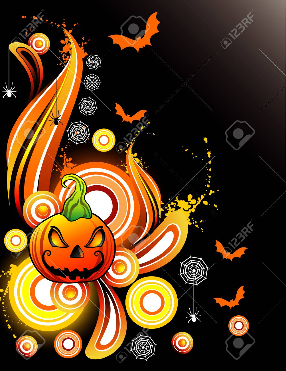 vector halloween illustration Stock Vector - 3691523