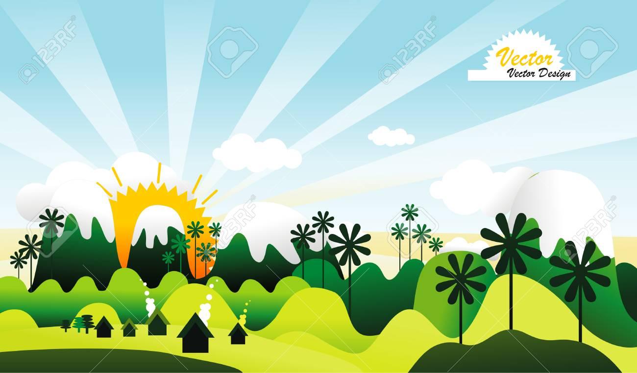landscape illustration Stock Vector - 8607097