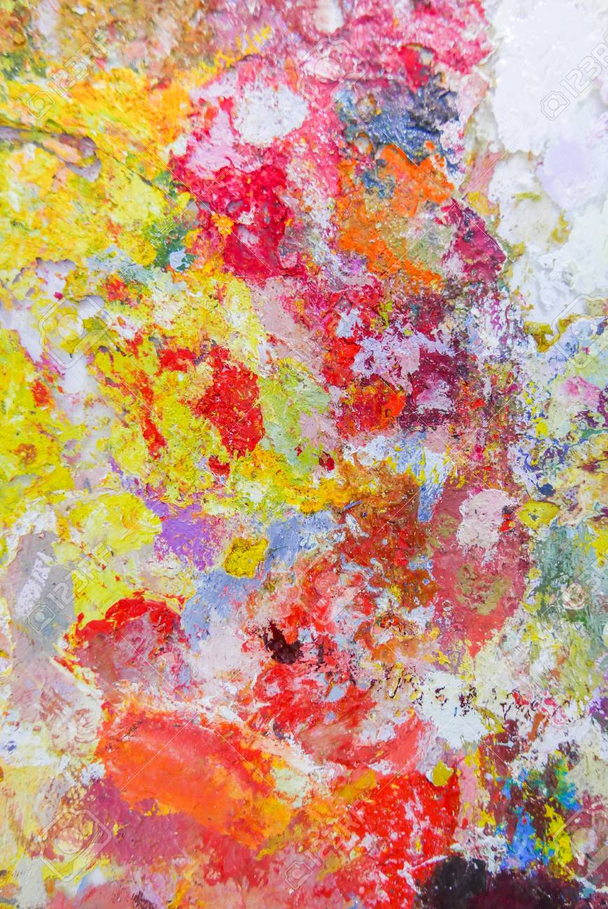 Abstrakte Farbe Palette Acryl Olfarbe Farbe Textur Flecken Von Olfarbe Moderne Kunst Abstrakte Kunst Malerei Hintergrund Lizenzfreie Fotos Bilder Und Stock Fotografie Image 82988953