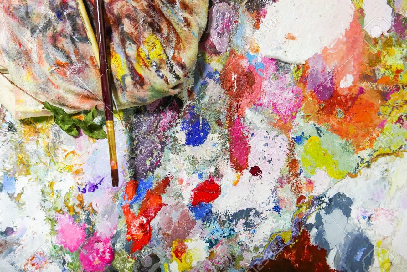 couleur abstrait palette acrylique peinture à l'huile couleur