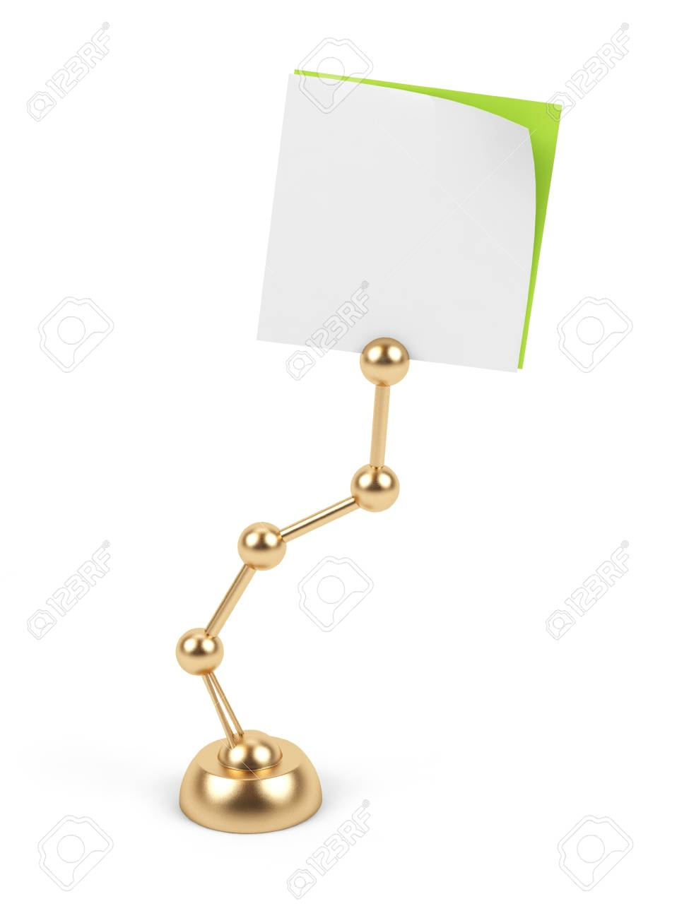 Stand with card on a white background. Stock Photo - 15536320