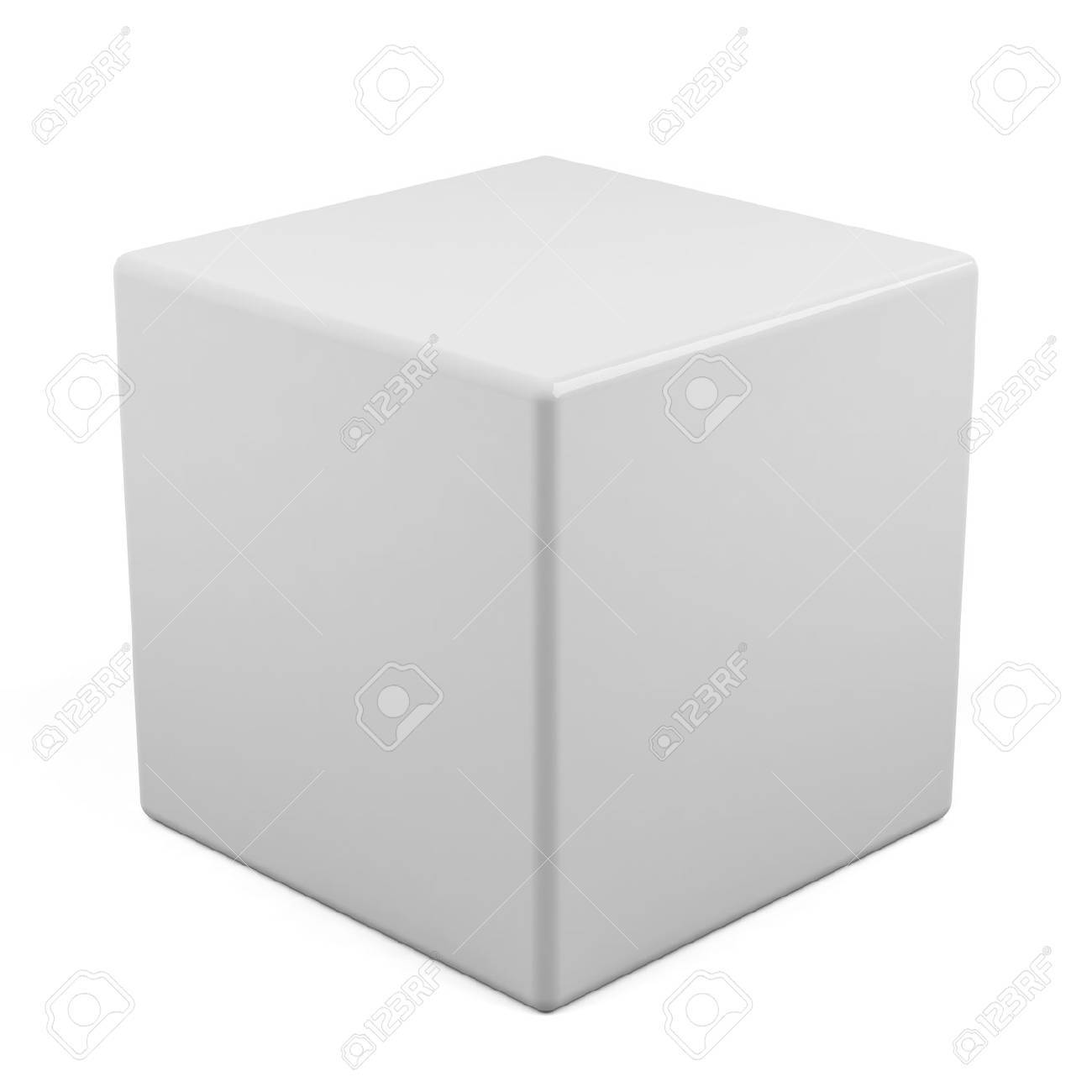 3d cube isolated on a white Stock Photo - 15953818