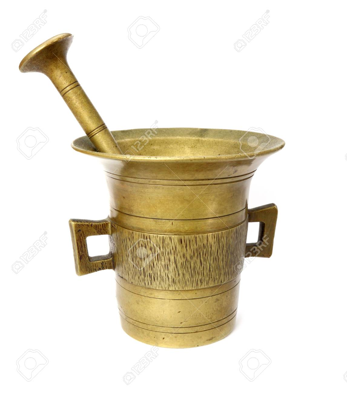 old brass container over white background Stock Photo - 14119241