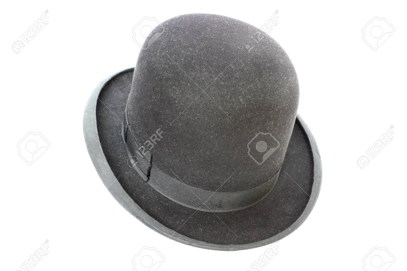 old black silk hat over white background Stock Photo - 14663227 1a6a9711d318
