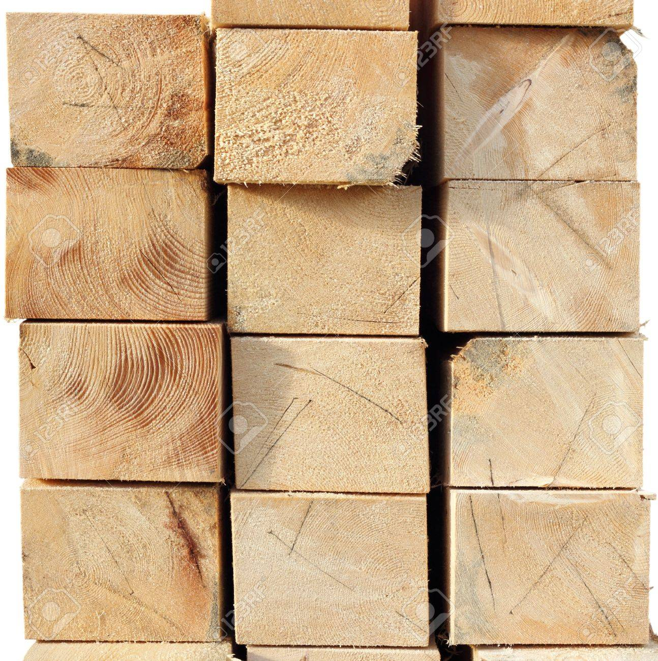 arrangement of wooden beams - felled spruce wood texture Stock Photo - 16752899