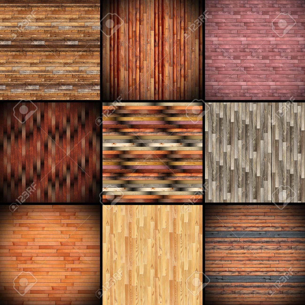 collage de texturas parecidas a las baldosas de madera para parquet de montaje en el piso