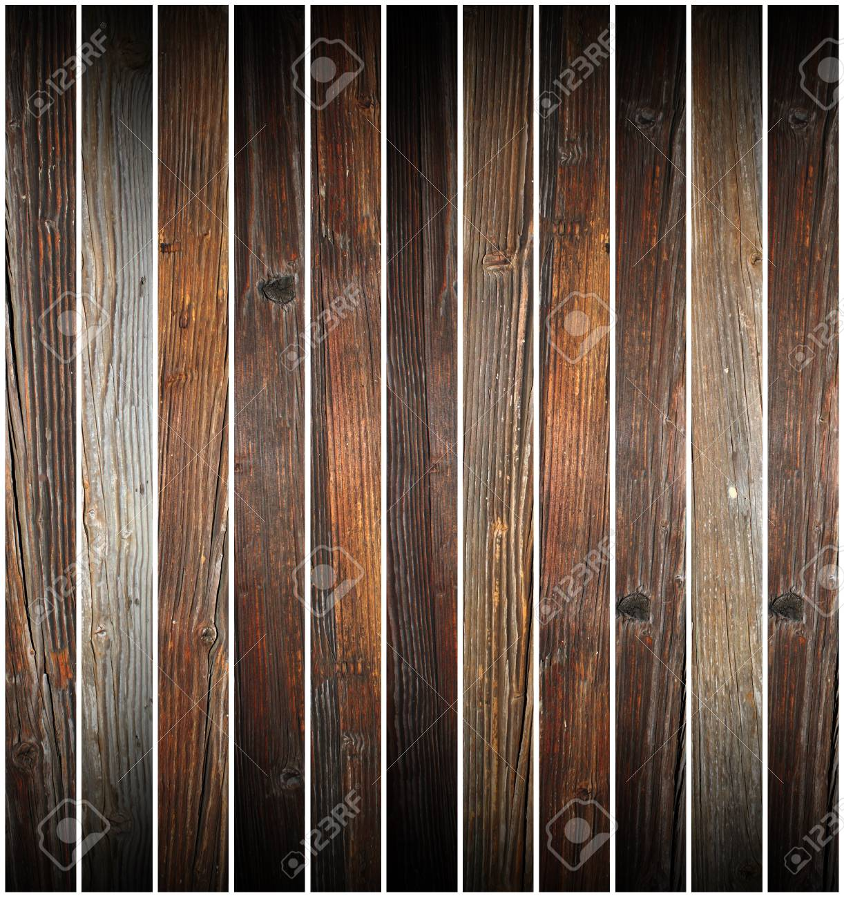 pieces of old wood on white background ready  for design Stock Photo - 25739996