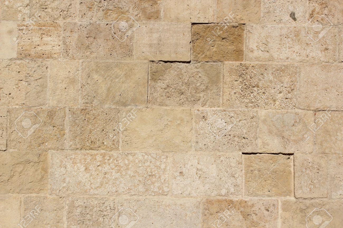 Old Stone Tiles Texture On Exterior Wall Of A Church Stock Photo ...