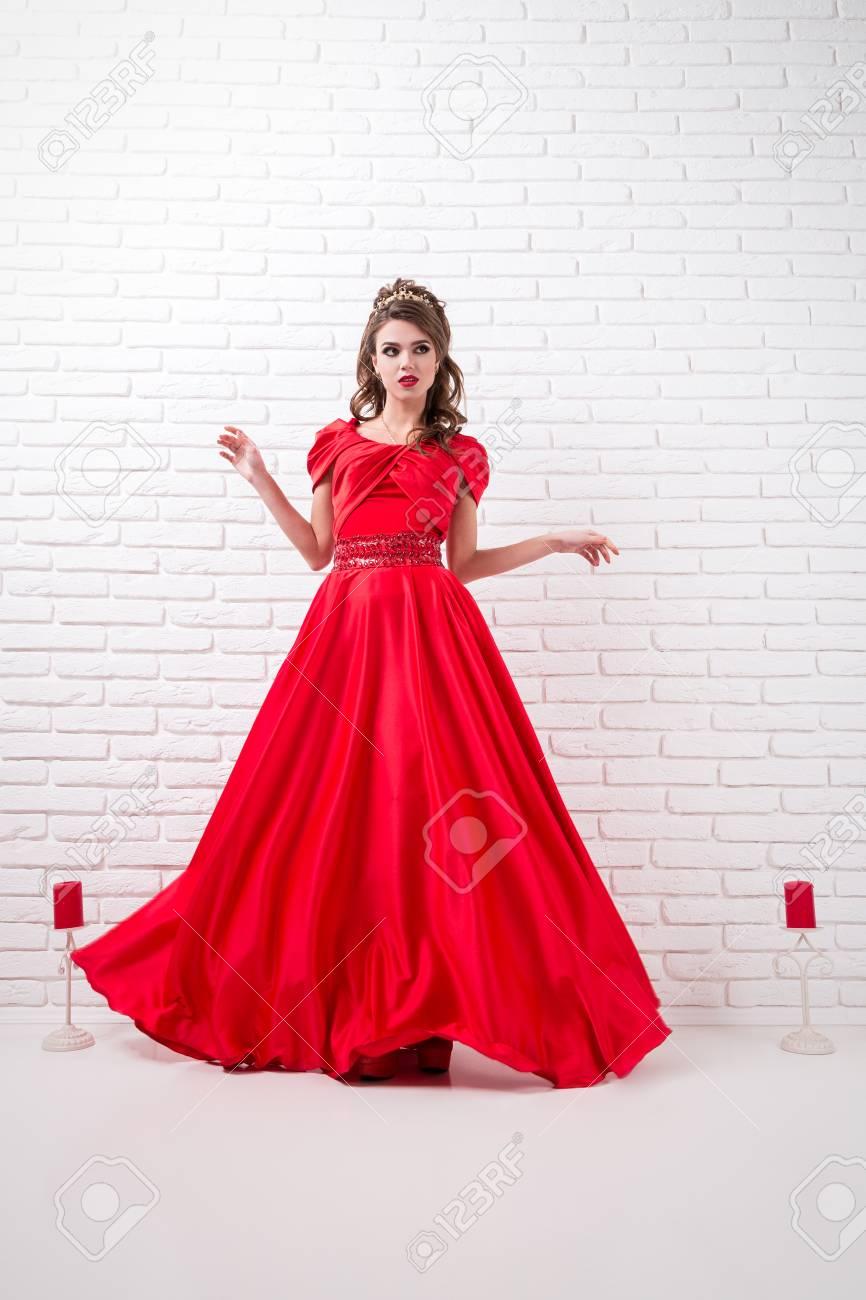 Vestidos elegantes largos color rojo