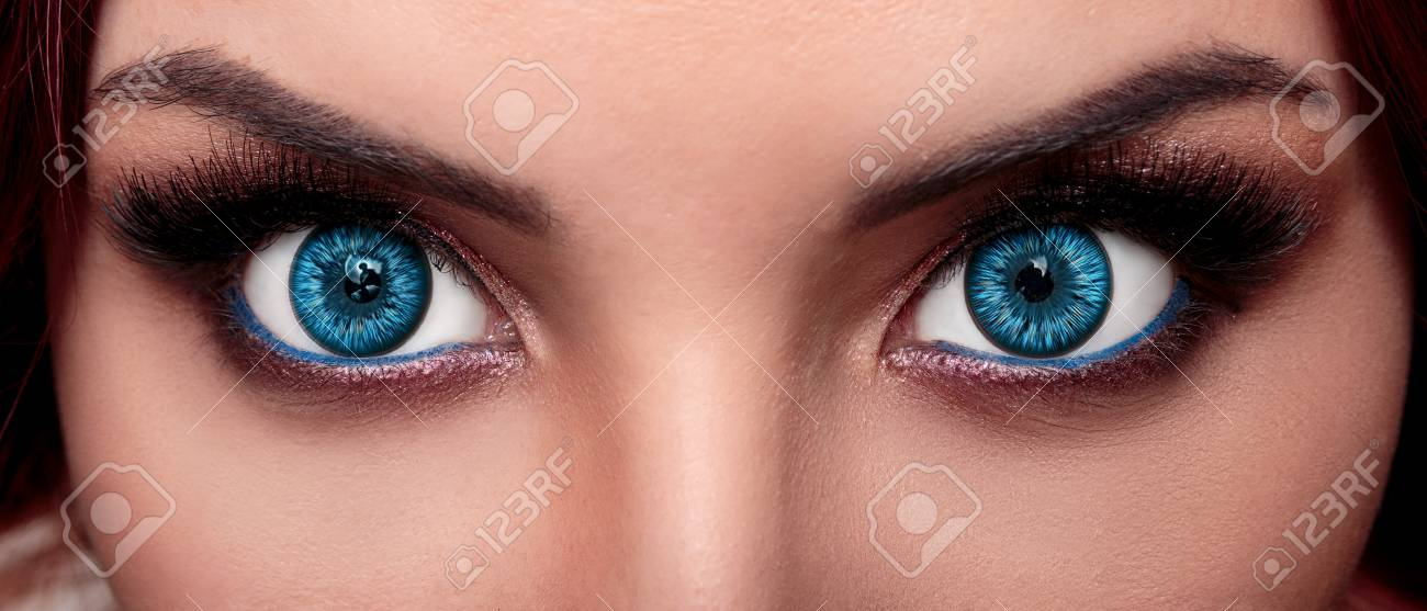 Close Up Face Of Pretty Girl With Beautiful Big Blue Eyes Big Stock Photo Picture And Royalty Free Image Image 84449015