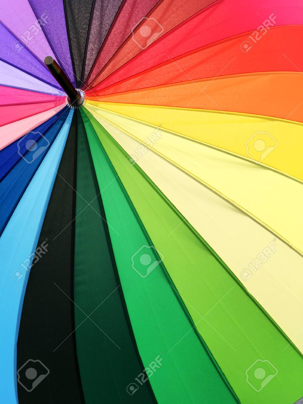 Color Pattern Of An Umbrella Background. Stock Photo, Picture And ...