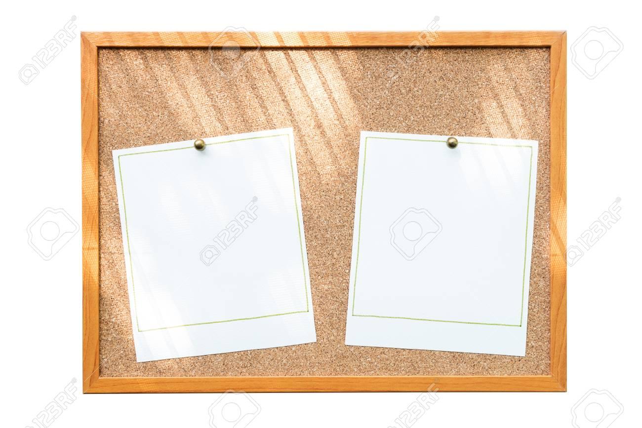 Blank Bilderrahmen Auf Kork-Board Mit Fenster Schatten Isoliert Auf ...