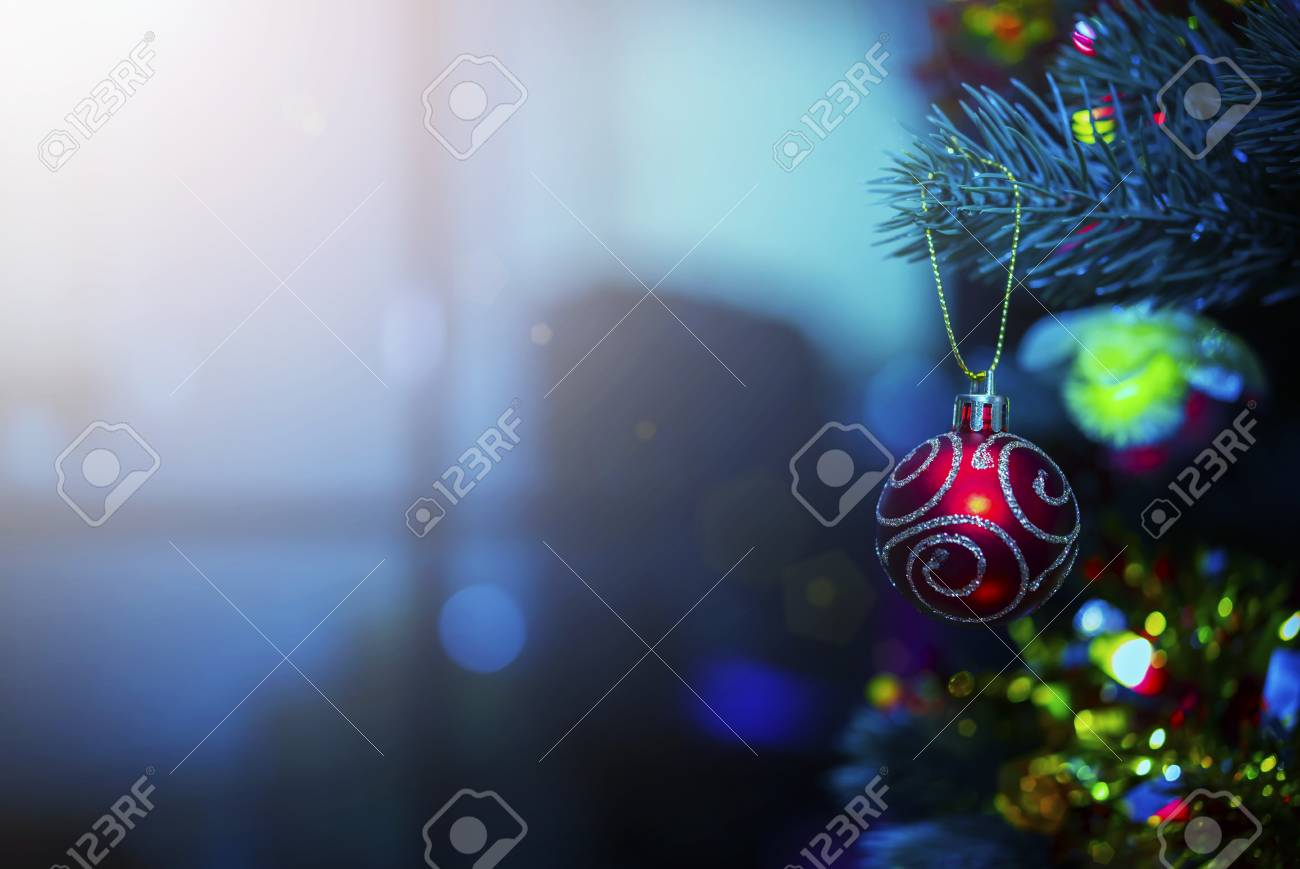 Christmas Background Images Hd.Merry Christmas Background Concept Closeup Of Red Ball Hanging