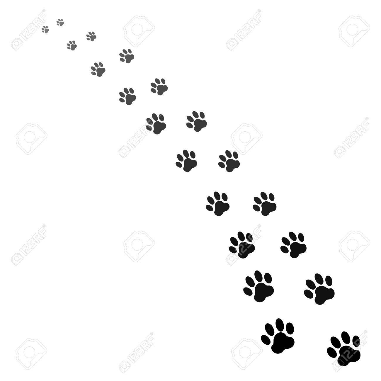 犬の足跡のイラスト素材 ベクタ Image