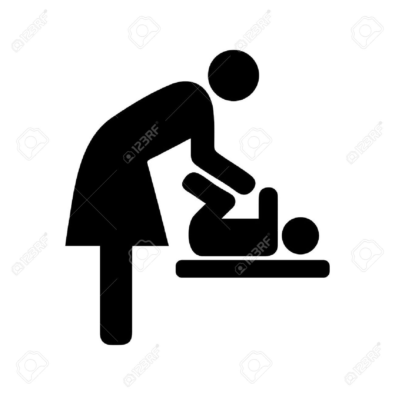 Bathroom Sign Handicap toilets iconicon, toilet, sign, man, baby, symbol, vector, room