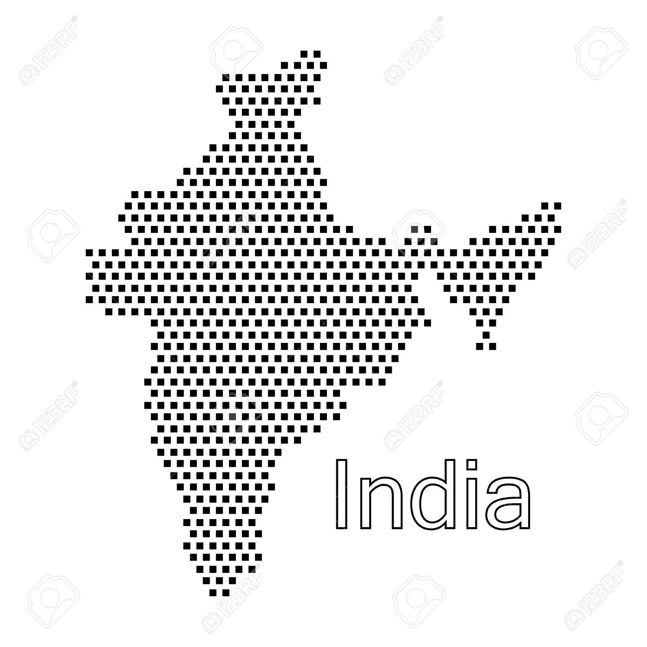 map of India,dot