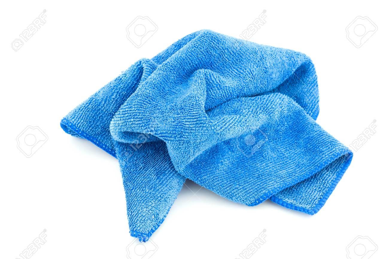 Handtuch Blau Auf Weißem Hintergrund Lizenzfreie Fotos Bilder Und