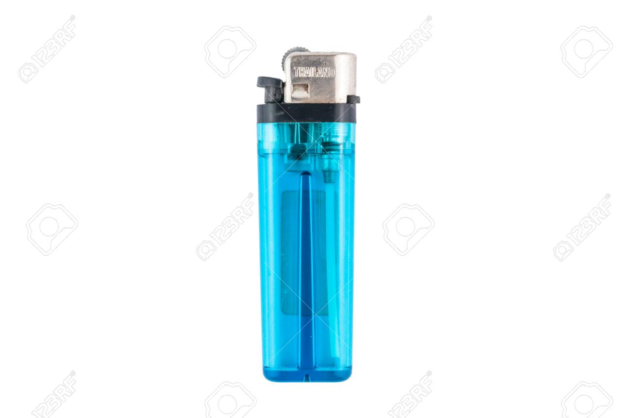 blue lighter isolated on white background Stock Photo - 27057634