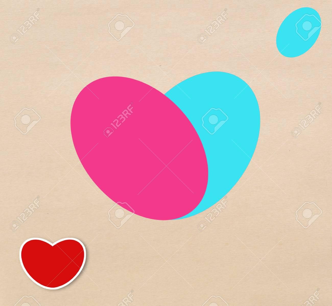 Heart design paper label Stock Photo - 17473292