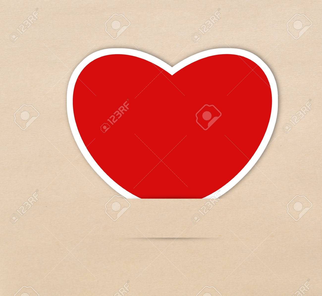 Red heart note Stock Photo - 17473262