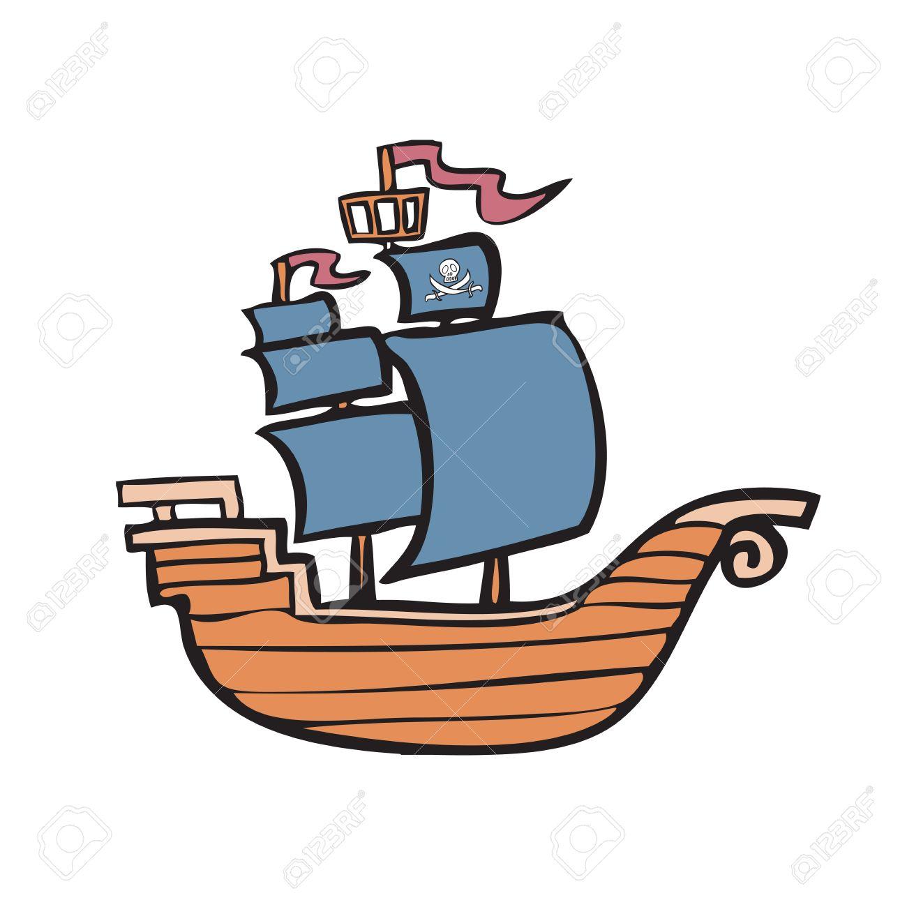 Personnage De Dessin Animé De Bateau De Pirate Clip Art Libres De
