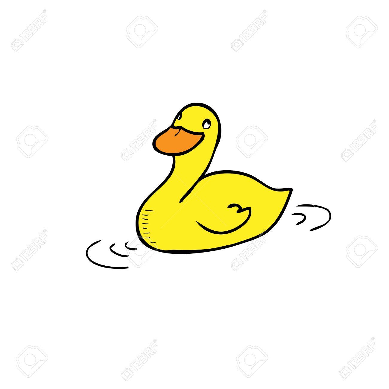 Duck Swimming Cartoon Drawing Vector Royalty Free Cliparts Vectors And Stock Illustration Image 31936959