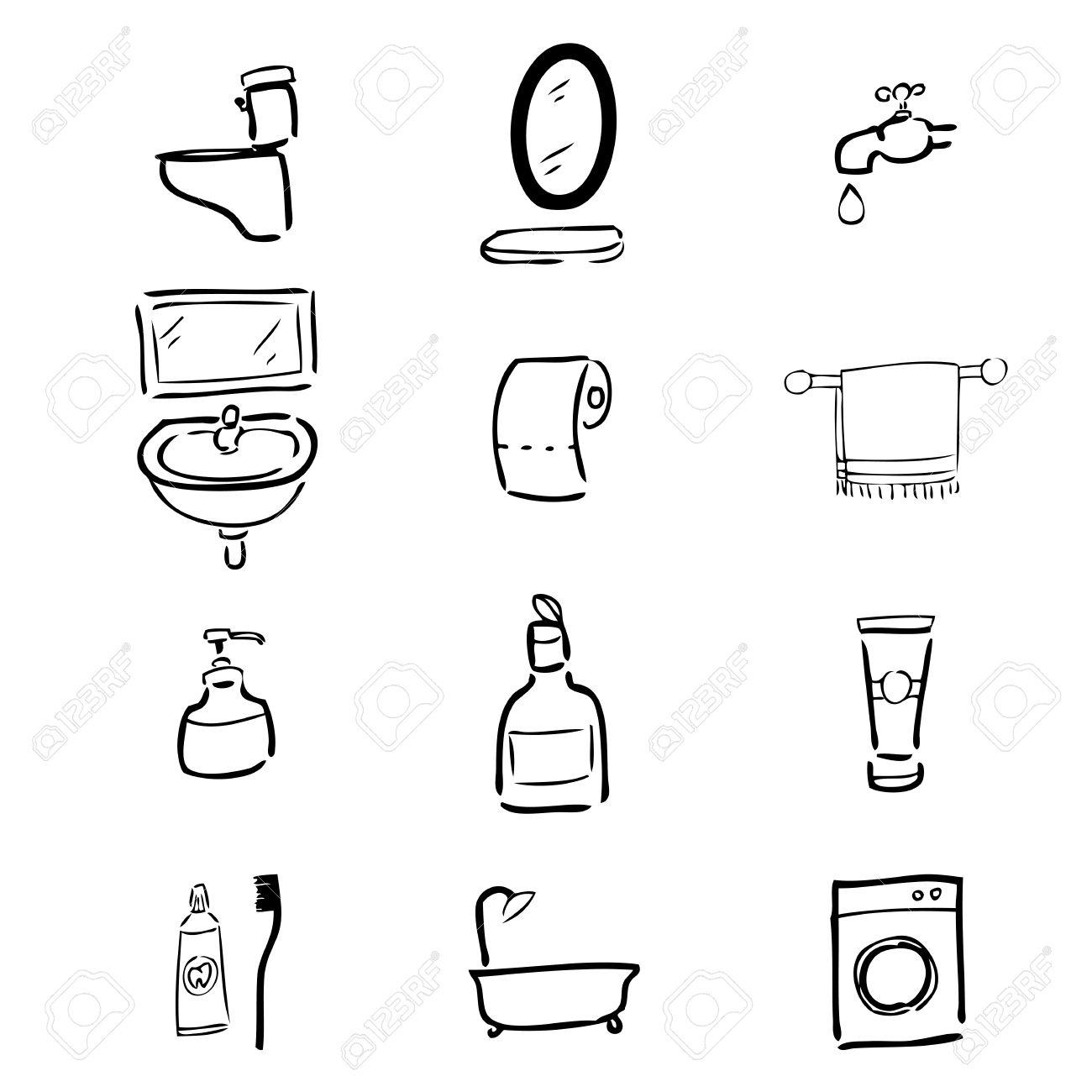 Toilet drawing icons set cartoon 2 Stock Vector   34488821Toilet Drawing Icons Set Cartoon 2 Royalty Free Cliparts  Vectors  . Toilet Drawing. Home Design Ideas