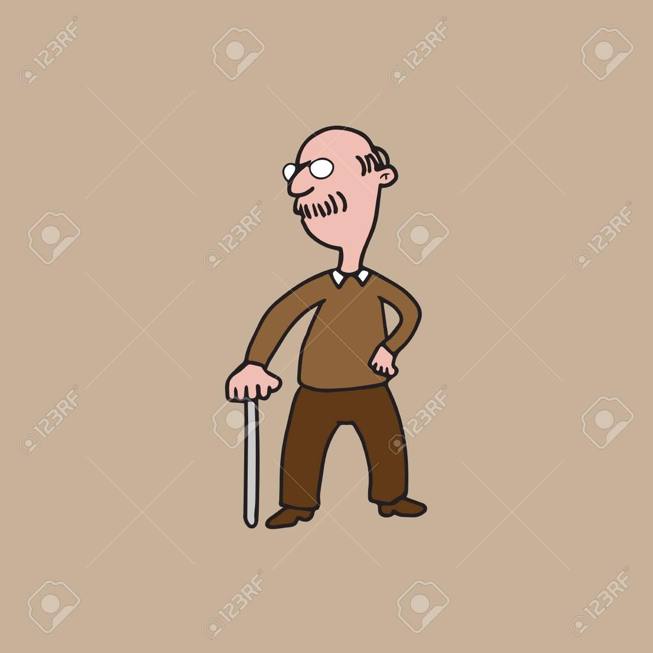 old man cartoon character vector royalty free cliparts, vectors, and