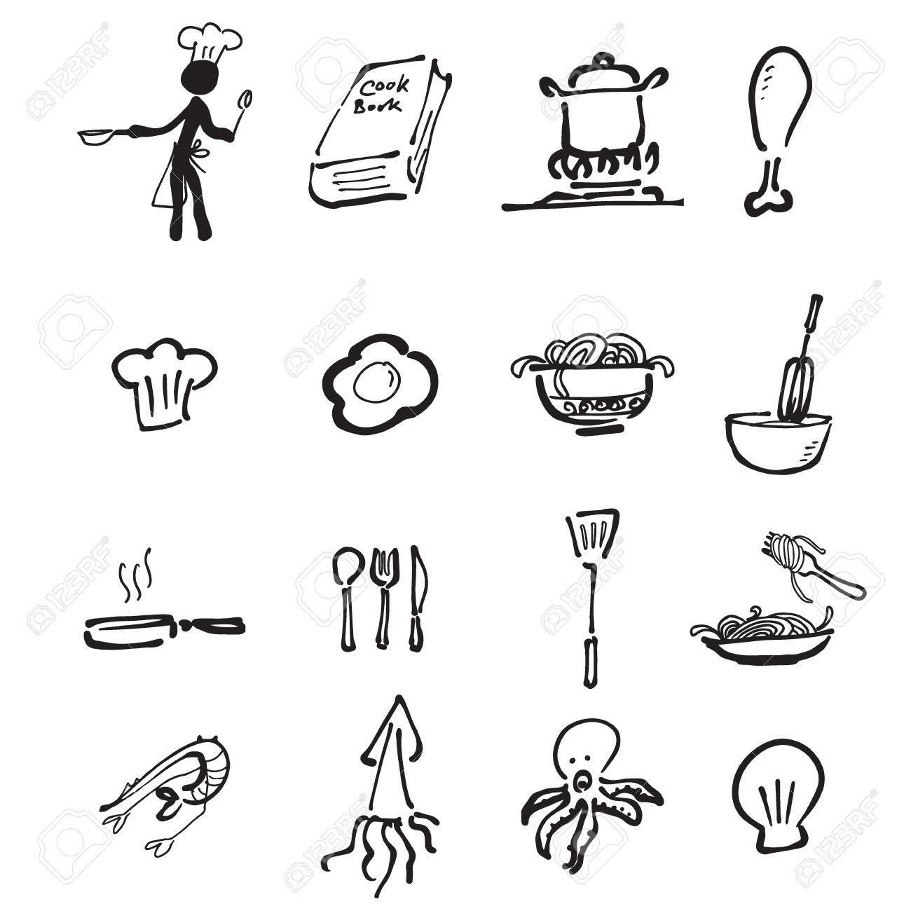 Chef Et Bande Dessinee De Cuisine Dessin Icones Clip Art Libres De