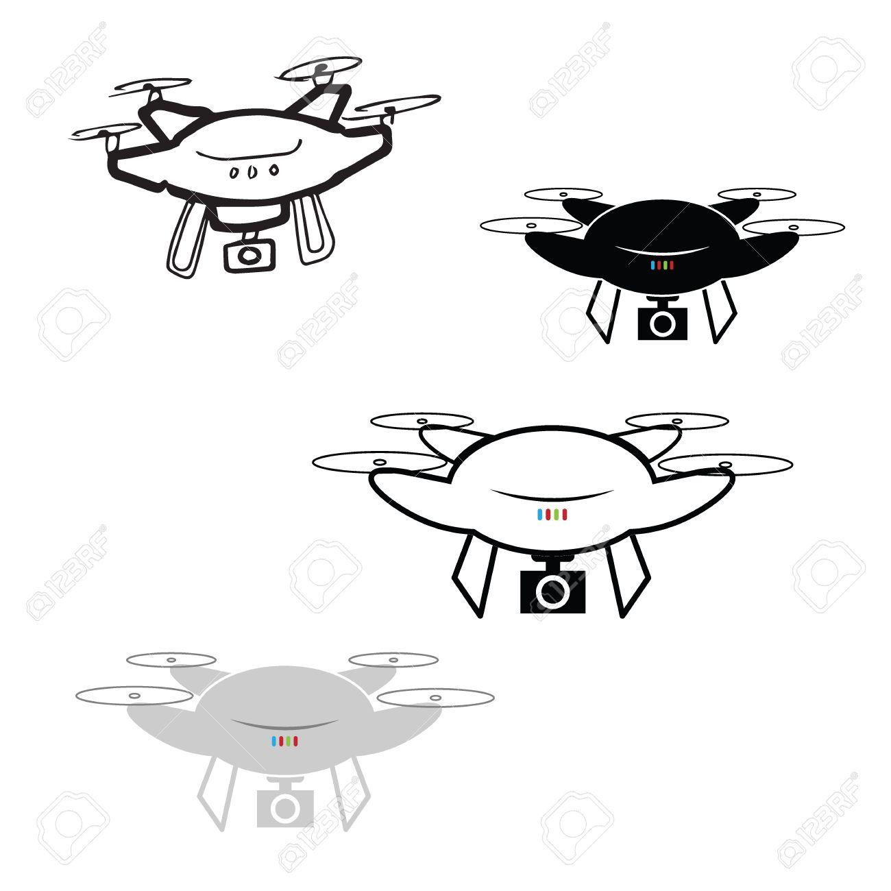 Drone Spy Camera Cartoon Drawing Royalty Free Cliparts Vectors And