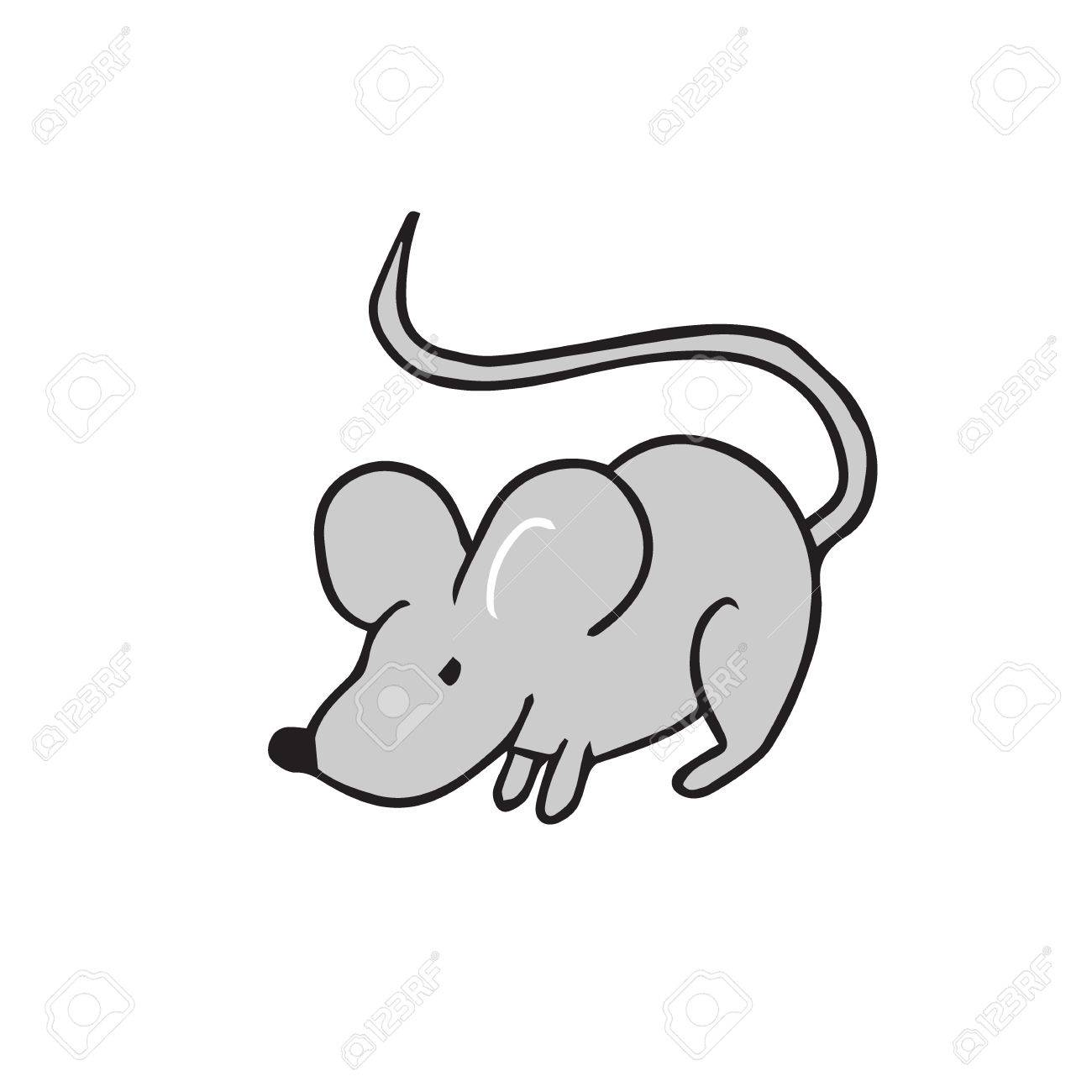 ratón parado solo dibujo de dibujos animados ilustraciones