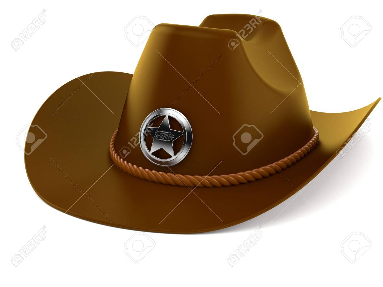 d2bade95 Sheriff Hat Isolated On White Background Stock Photo, Picture And ...