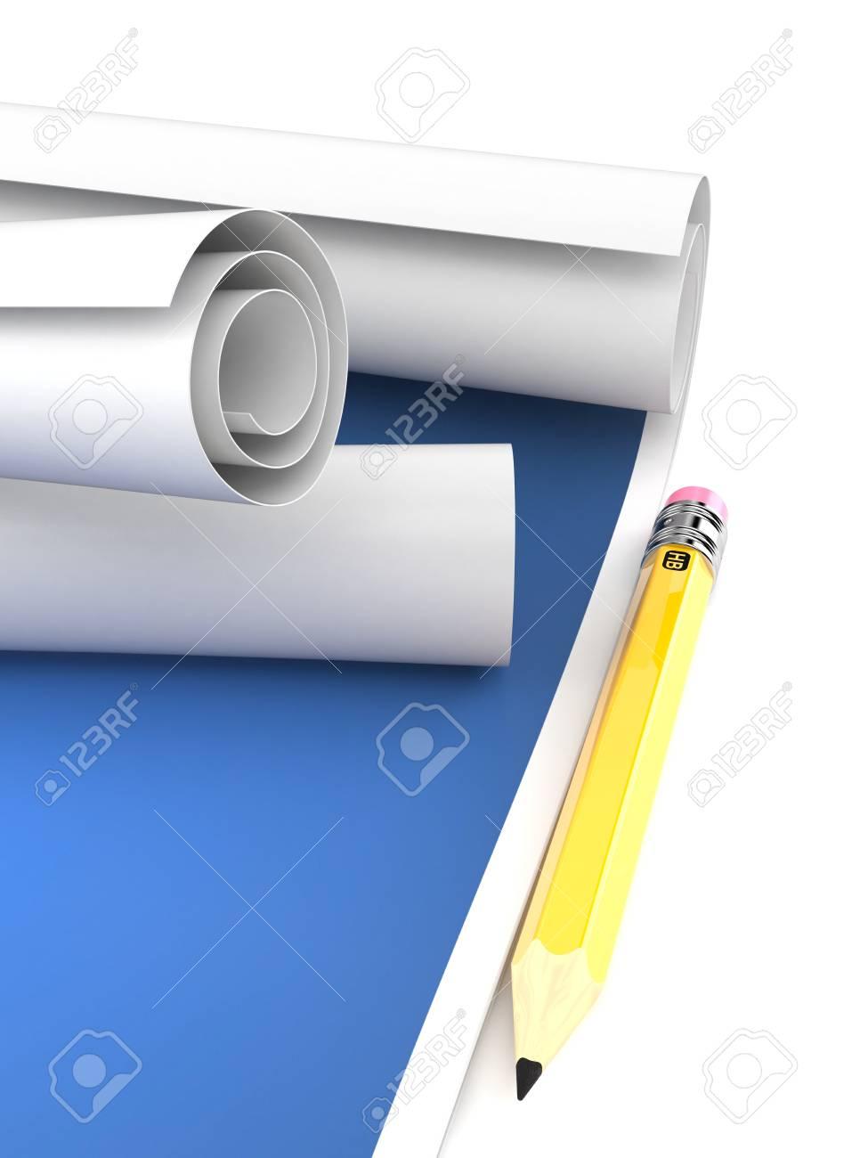 Blueprint isolated on white background stock photo picture and blueprint isolated on white background stock photo 94245712 malvernweather Choice Image